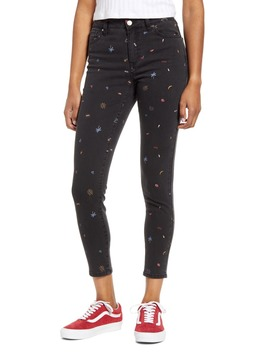 Print Skinny Jeans by Tinsel