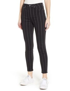 Stripe High Rise Skinny Jeans by Tinsel