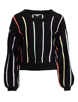 Haillie Rainbow Striped Sweater by Olivia Rubin