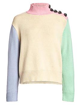 Lyla Oversized Colorblock Sweater by Olivia Rubin