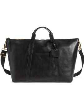 Essential Leather Overnight Bag by Madewell