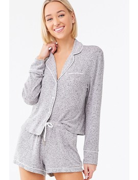 Marled Pajama Set by Forever 21