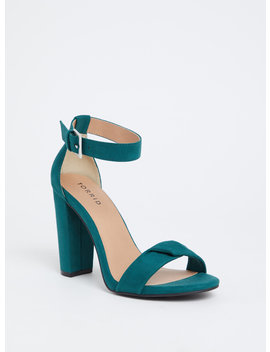 Emerald Green Twisted Strap Tapered Heel (Wide Width) by Torrid