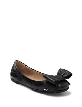 Divine Bow Leather Ballet Flat by Tory Burch