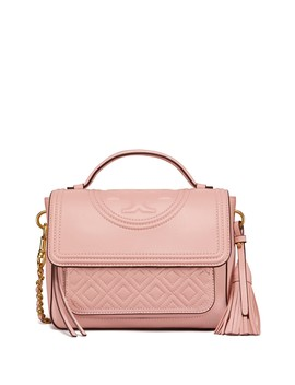 Fleming Quilted Leather Top Handle Satchel by Tory Burch