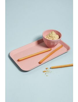 Zuperzozial Pink Bamboo Serving Tray by Zuperzozial