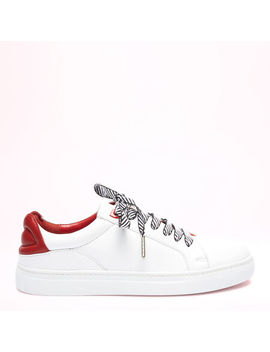 Chalk Leather Lips Natasha Trainers by Lulu Guinness