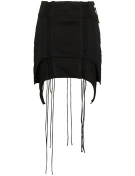 Aviator Asymmetric Mini Skirt by Helmut Lang