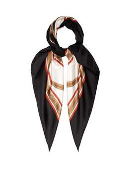 Two Lovers Belt Print Silk Twill Scarf by Burberry