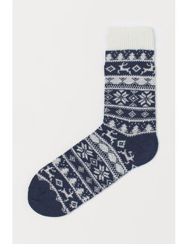 Knit Socks With Pattern by H&M