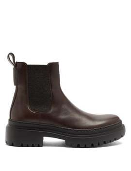 Chelsea Leather Ankle Boots by Brunello Cucinelli