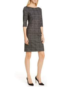 Dokos Houndstooth Check Dress by Boss