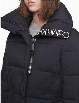 Funnel Neck Logo Puffer Jacket by Calvin Klein