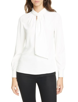 Pammla Tie Neck Long Sleeve Blouse by Ted Baker London