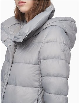 Packable Down Funnel Neck Puffer Jacket by Calvin Klein