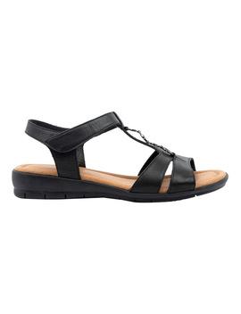 Ferraro Black Sandal by Supersoft By Diana Ferrari