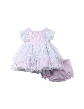 Foil Polka Dot Mesh Dress (Baby Girls) by Pastourelle By Pippa And Julie