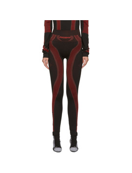 Ssense Exclusive Black & Red Active Leggings by Misbhv