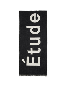Black Supporter Scarf by Études