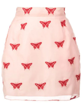 Embroidered Mini Skirt by Fleur Du Mal