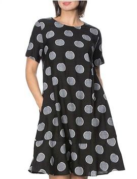 Spot Dress With Pockets by Clarity By Threadz