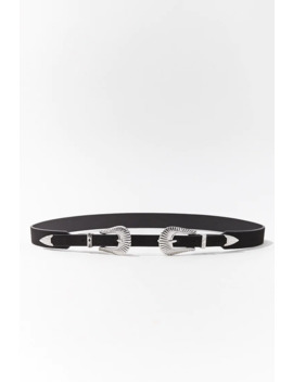 Dual Buckle Skinny Hip Belt by Forever 21
