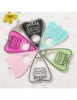 10pcs 42*60mm Ouija Planchette Charms Flat Back Resin Charms Necklace Pendant For Diy Decoration by Ali Express.Com