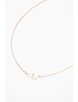 Cutout Heart Charm Necklace by Forever 21