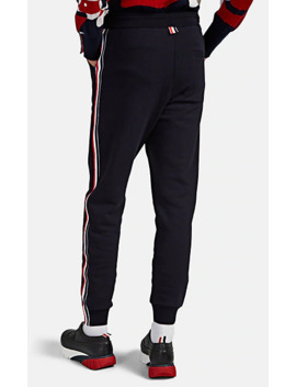 Stripe Detailed Cotton Sweatpants by Thom Browne