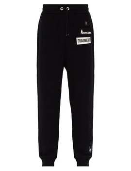 Logo Patch Cotton Track Pants by 7 Moncler Fragment