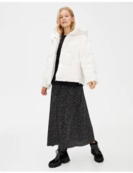 Faux Fur Puffer Jacket by Pull & Bear