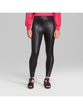 Women's Faux Leather High Rise Leggings   Wild Fable™ by Wild Fable