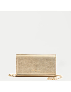 Convertible Wallet Bag In Metallic Leather by J.Crew