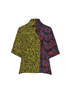 Two Toned Georgette Shirt by Rokh