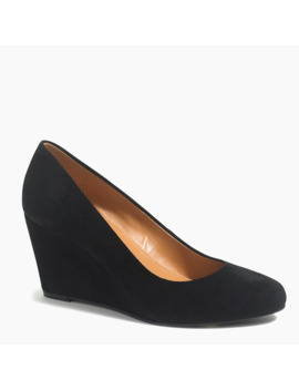 Suede Sylvia Wedges by J.Crew