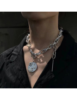 Kmvexo Punk Hip Hop Unisex Earth Pendant Necklaces For Women Mens 2019 Fashion Big Metal Chains Street Jewelry Necklace Gifts by Ali Express.Com