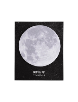 1 Pcs Lovely Moon Memo Pad Creative Round Shape Sticky Notes 30 Sheet Cute Sticker For Kid Gift School Office Stationery Bookmark by Ali Express.Com