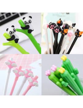 1pc Cute Panda Gel Pen Kawaii Black Cartoon Plastic Gel Pens For Writing Office School Supplies Stationery Cartoon Animal Pen by Ali Express.Com