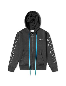 Off White Abstract Arrows Zip Hoody by Off White