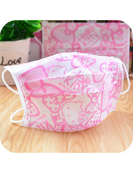 3 Pcs/Lot.Kawaii Kitty Cat Pink Bow Non Woven Masks.Disposable Protective Dust Mask.Nail Art Supplies.14.5*9cm.Free Shipping by Ali Express.Com