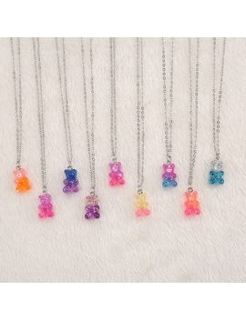 1pc Cute Multicolor Resin Gummy Bear Necklace For Children Birthday Gift Woman Jewelry by Ali Express.Com