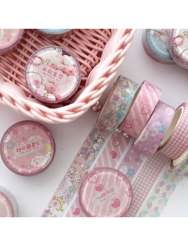 Mohamm Washi Tape Japanese Stationery Kawaii Pink Masking Tape Cute Scrapbooking Girl Gift Decoration School&Office Supplies by Ali Express.Com
