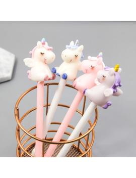 1pc Unicorn Gel Pens Kawaii Multi Shape Silica Gel &Plastic Unicorn Pens For Kids Girls Gifts School Writing Supplies Stationery by Ali Express.Com