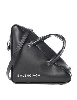 Balenciaga Calfskin Triangle Duffle S Black by Balenciaga