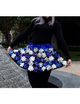 Ugly Christmas Sweater   Christmas Bow Skirt   Ugly Christmas Sweater Party   Bow Skirt Blue, Purple, Silver by Etsy