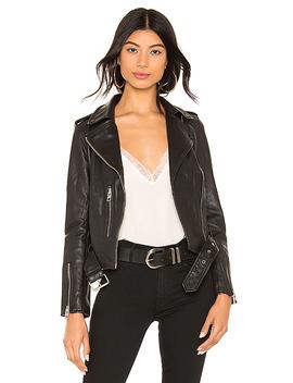 Balfern Leather Biker Jacket In Black by Allsaints