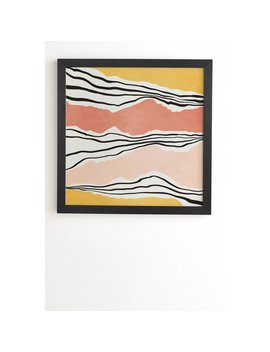'irregular Stipes 01' By Viviana Gonzalez Picture Frame Painting Print On Wood by East Urban Home