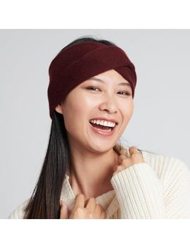 Cashmere Twist Headband Plum by Naadam
