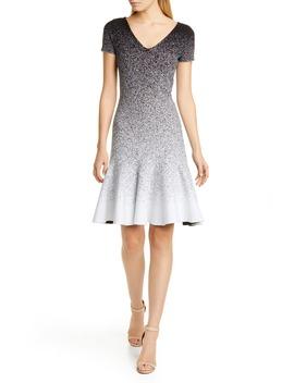Ombré Jacquard Dress by Oscar De La Renta