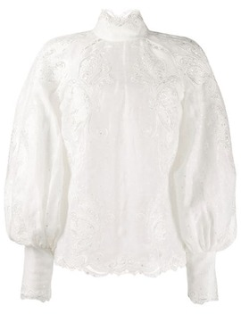 Super Eight Embroidered Shirt by Zimmermann